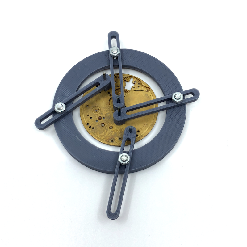 3D PLA printed dial feet position gauge